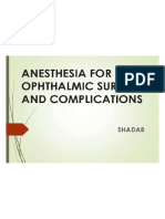 Opthalmic Anaesthesia