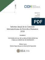 Informe Anual de la Comisión Interamericana de Derechos Humanos 2018