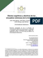 Efectos cognitivos y afectivos de los encuadres noticiosos de la inmigración