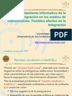 El tratamiento informativo de la inmigración en los medios de comunicación españoles