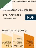 Pemeriksaan Uji Alergi dan Syok Loren.pptx
