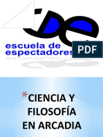 FOLOSOFIA Y COENCIA EN ARADIA DE TOM STOPPARD