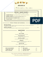 Loewy Brunch Menu