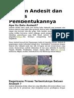 Batuan Andesit Dan Proses Pembentukannya