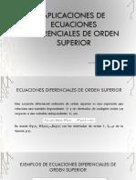 Aplicaciones de Ecuaciones Diferenciales de Orden Superior
