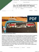 Battery Installation for ASUS ROG G751 Models