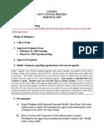 Council Agenda March 26, 2019