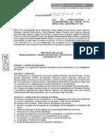 PL 4807 -Ley de Trabajadoras Del Hogar