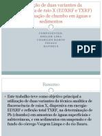 DETERMINAÇÃO DO CHUMBO EM ÁGUA.pptx