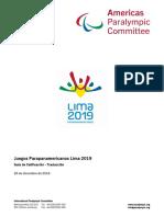 Manual Juegos Para Panamericanos 2019 - Version Dic 2018