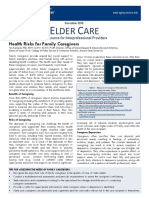 Health Risks for Family Caregivers