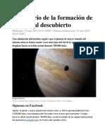 El Misterio de La Formación de Júpiter