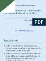 Exp PRONAP Analisis Cuantitativo Implantacion