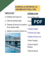 Estática - Armaduras simples, el Método de las Juntas y Miembros de Fuerza Cero.pdf