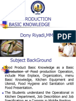 Food Product Basic Knowledge