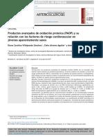 Productos Avanzados de Oxidación Proteica (PAOP) y su relación con los factores de riesgo cardiovascular enjóvenes aparentemente sanos