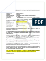 Oferta de Carbón Térmico Tipo b Fob Spgm Puerto Morrosquillo Spgm
