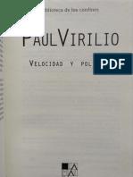 Paul Virilio - Velocidad y politica.pdf