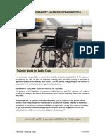 Disability Awareness Training Jan 16