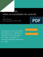 Sociedade de Controle, Deleuze