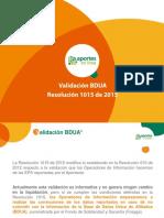 2015 PDF Validación BDUA