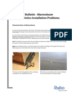 Tb- Marmoleum Characteristics Installation Problems