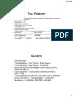 Test case Balance sheet