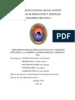 Tesis - Implementación de Grúas Puente en El Comercio Industrial, La Empresa Aceros Arequipa, Arequipa 2018(MODELO)