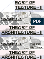 Theory of Architecture - II