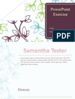 samantha tester powerpoint exercise