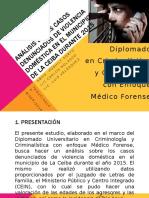 Análisis de los casos denunciados de violencia doméstica en el municipio de La Ceiba durante 2015