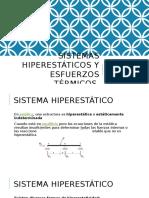 sistemas hiperestaticos y esfuerzos termicos