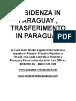 Prendere La Residenza in Paraguay