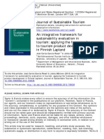 An integrative framework for sustainability evaluation in tourism- applying the framework to tourism product development in Finnish Lapland-García-Rosell-2013