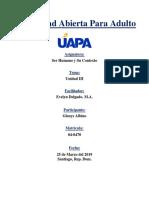 Universidad Abierta Para Adulto - Ser Humano y Su Contexto - Unidad III.docx