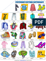 clothes and accessories esl vocabulary picture dictionary worksheet for kids.pdf