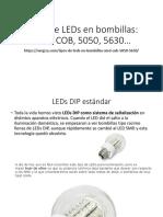 Tipos de LEDs en Bombillas