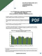 Resultado de Encuesta de Ocupacion 2014