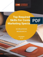 Top Required Skills for Content Marketing Specialists