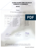 Semester 1 ATKT Examination Time Table March 2019