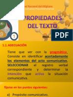 Propiedades Del Texto-Adecuacion y Cohesion