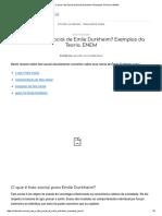O Que é Fato Social de Emile Durkheim Exemplos Da Teoria (2)