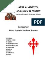 Caratula Misa Al Apóstol Santiago El Mayor