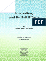 Innovation and Its Evil Effects - 1994 - By Saalih Al Fawzaan