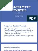 analisis mutu sensoris