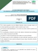 Apresentação de TCC - Lúdico como metodologia no ensino da Geografia
