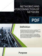 Networks and Interconnection of Networks