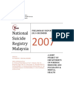 National Suicide Malaysia 2007