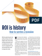 ROI is History - How to Survive in a Recession
