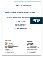 Upgrade of Ubuntu Arts & Crafts Centre Project Charter 24.11.2014